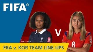 France v. Korea Republic - Team Lineups EXCLUSIVE