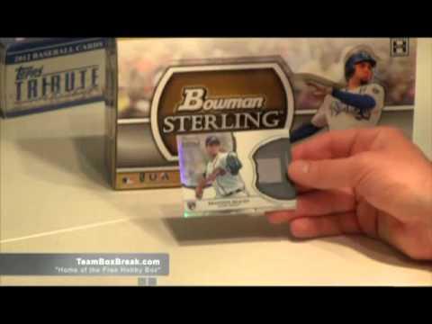 Triple Baseball Box Break 2012 Topps Tribute 2012 Museum Collection 2011 Bowman Sterling Baseball