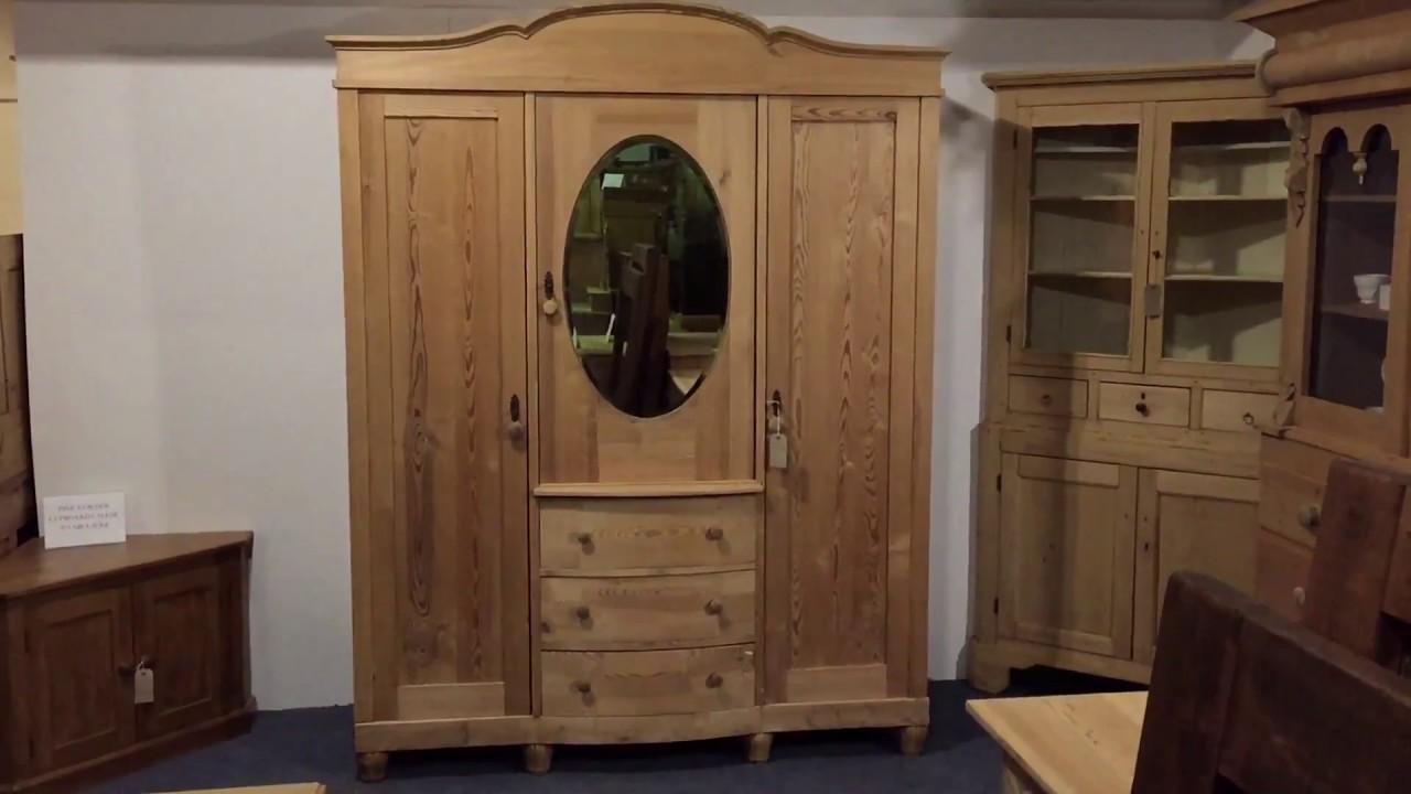 Elegant Antique Triple door Wardrobe for sale - Pinefinders Old Pine  Furniture Warehouse - Elegant Antique Triple Door Wardrobe For Sale - Pinefinders Old Pine