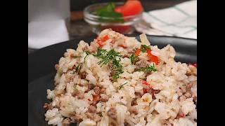 Быстрый обед из фарша и риса | Жареный фарш с рисом