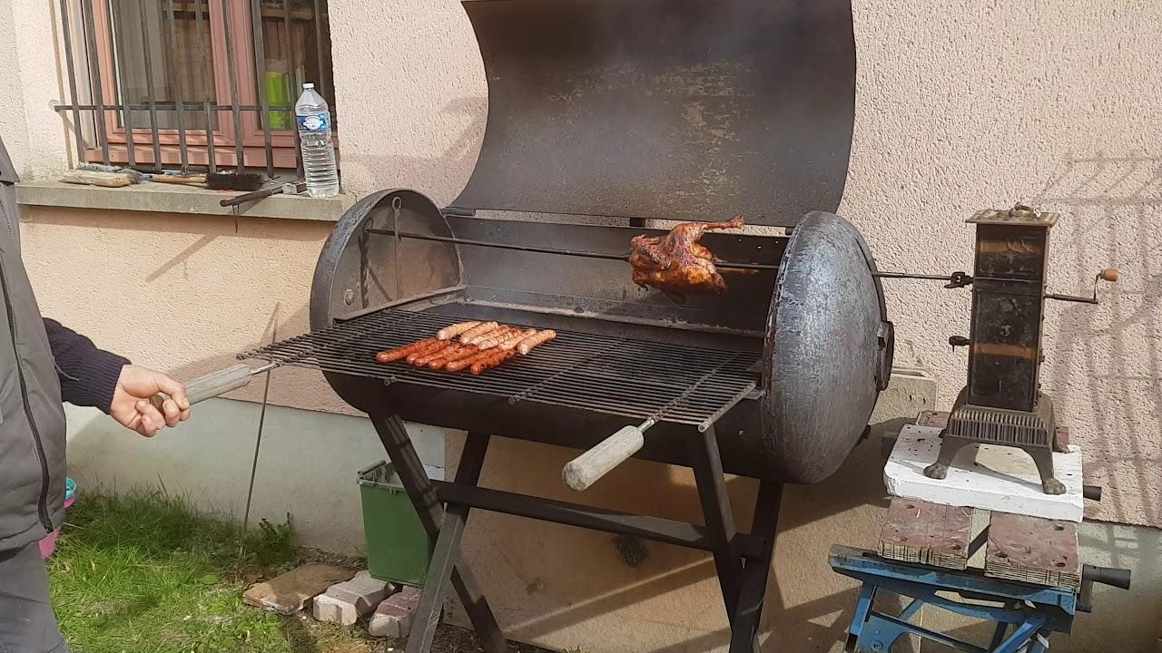 barbecue ballon d eau chaude tourne broche georges et toto youtube