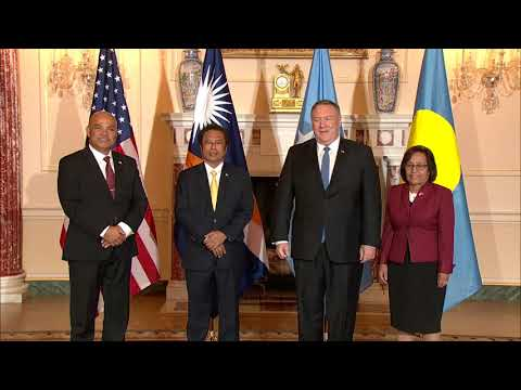 Secretary Pompeo Hosts Working Luncheon at the Department of State