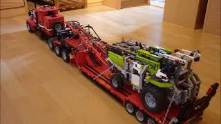 Lego® Technic Eigenbau US-Truck mit Eigenbau-Tieflader und Lego® Technic Mähdrescher 8274 #35