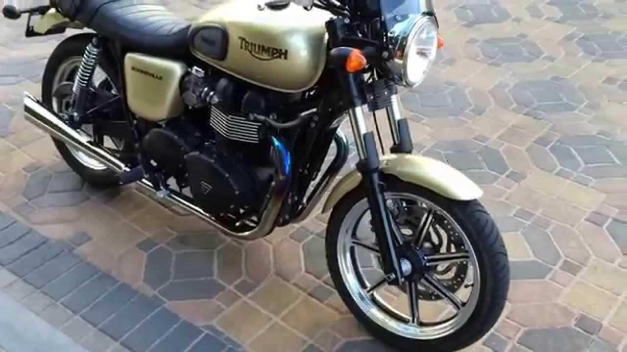 2012 Triumph Bonneville Rare Gold For Sale At Celebrity Cars Las
