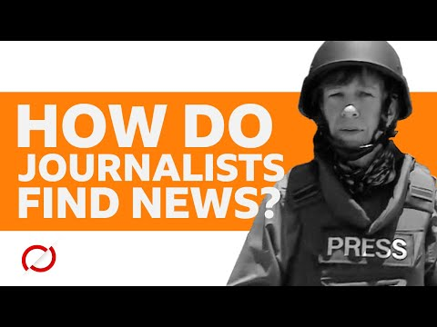 How journalists find the news - BBC My World