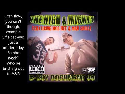 B-boy Document 99 - High and Mighty ft. Mos Def, Mad Skillz (With Lyrics)