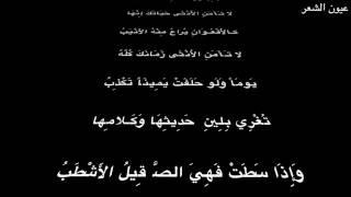 صالح بن عبد القدوس   القصيدة الزينبية   بصوت فالح القضاع