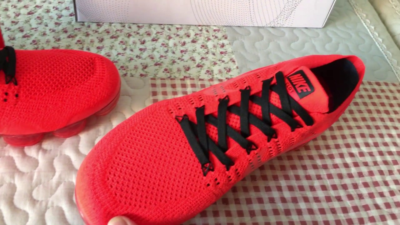 purchase cheap 71bf6 ca272 NIKE AIR VAPORMAX FK CLOT FLYKNIT BLACK BRIGHT CRIMSON RED WHITE AA2241