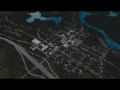 Cities: Skylines - Realistic builds: Small american town in 45 minutes