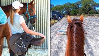 EQUESTRIAN SUMMER ROUTINE! | GO PRO EDITION