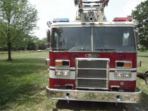 1996 pierce lance quint fire truck for sale on ebay youtube. Black Bedroom Furniture Sets. Home Design Ideas