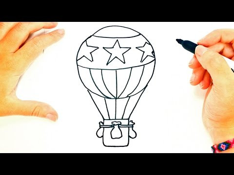 Cómo Dibujar Un Globo Aerostático Paso A Paso Dibujo Fácil De