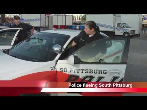 Police fleeing South Pittsburg, Tennessee