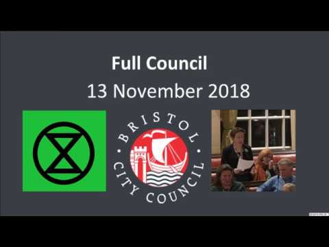 Bristol City Council - Climate Emergency Resolution Declaration Passes Unanimously!