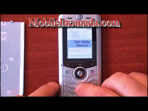 How to enter unlock code on Fido Motorola L2 instructions - www.Mobileincanada.com