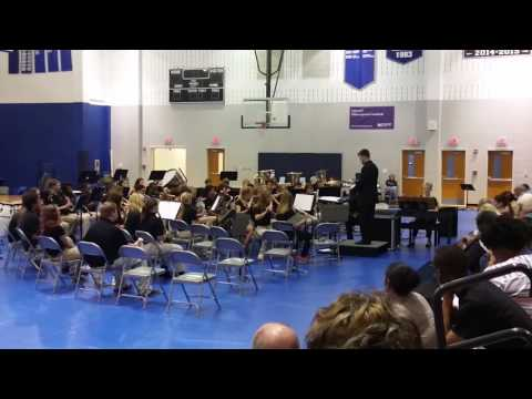 Kalee Marching band playing for Parkwood School
