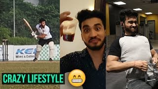 Playing cricket, drinking and working out | Realistic Lifestyle |