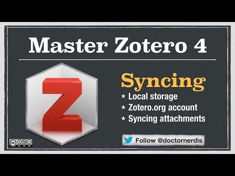 Zotero Tutorial: Syncing