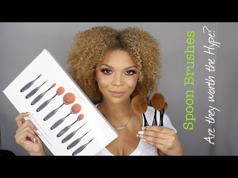 Oval/Spoon Brushes: Are they worth the Hype?    Review & Demo    MakeupbyDenise