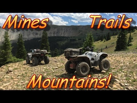 Exploring Colorado Mountains! ATV Trails, Mines, Mirror Lake!