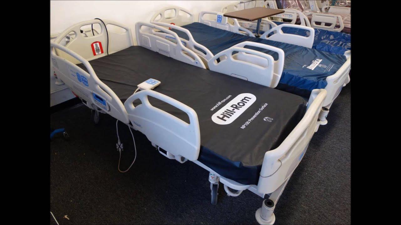 refurbished hill rom careassist hospital bed youtube. Black Bedroom Furniture Sets. Home Design Ideas