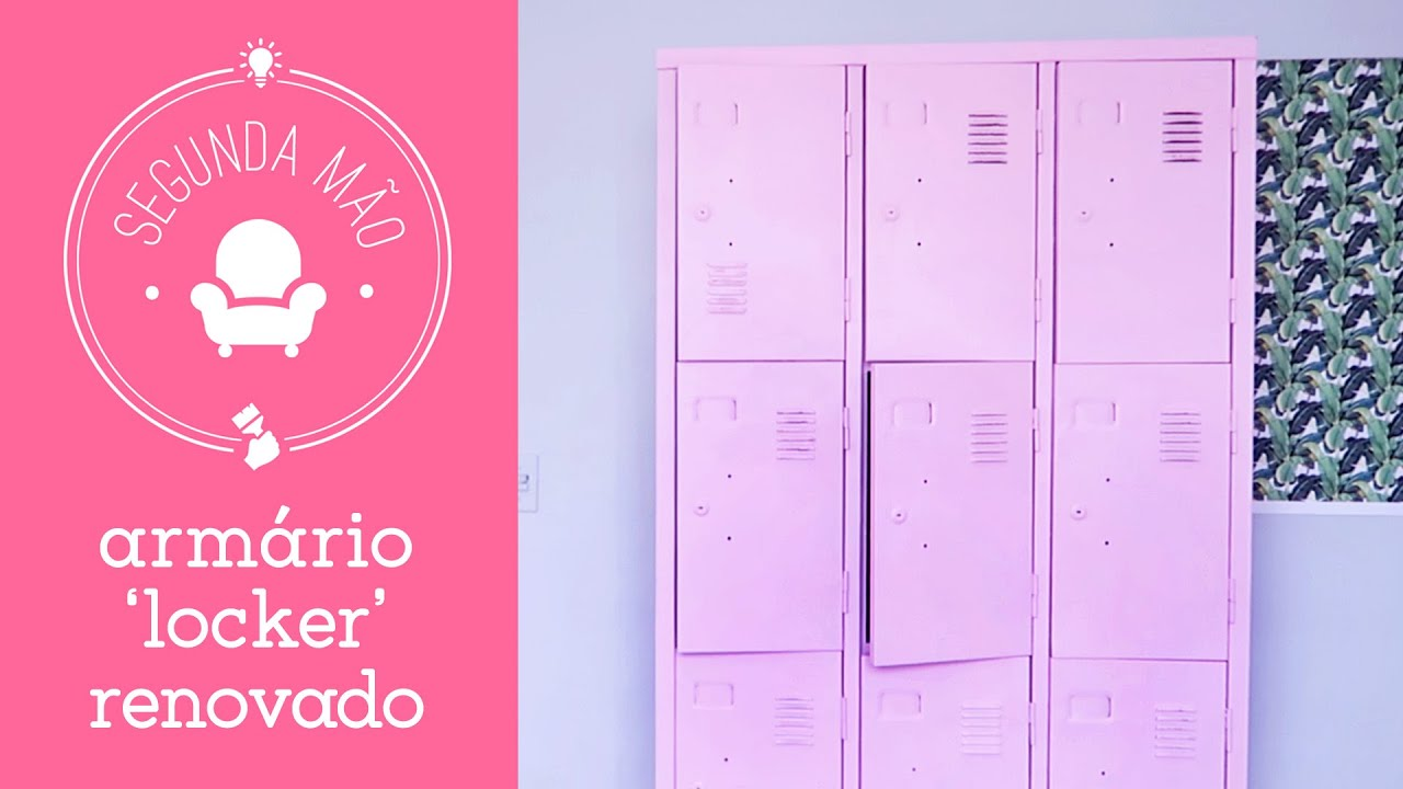 Adesivos De Coração Para Caderno ~ Armário escolar com cara de Pinterest Como reformar locker de aço YouTube