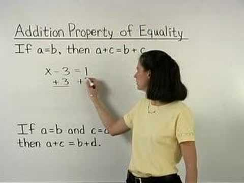Addition and Subtraction Properties of Equality (with videos ...