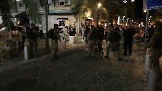 הפגנה ב חיפה עימותים הזדהות עם תושבי עזה משטרה שוטרים מפגינים