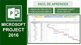 ms project 2016 facil de aprender en espaol