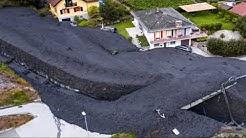 Coulée de boue Chamoson, Glissement de terrain en Suisse,