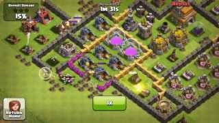 Clash of clans how not to deploy a healer (fail) Healer, Giant, Wizard)