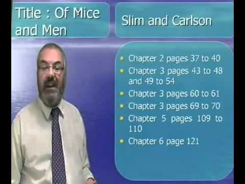 of mice and men what kind of man is carlson Table of contents: overview before we read what type of man is carlson how is he different than slim chapter 2 study guide poetry analysis in of mice and men, conflict surrounds the plot and is a major part of the action.
