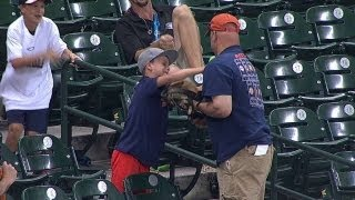 Son can't believe Dad drops foul pop