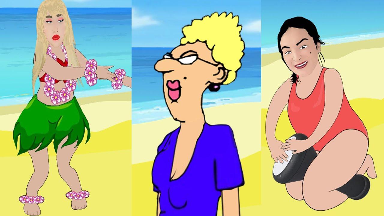 😅🌊 الاستاذة تلاقت جاد وهبي و ربيكا فالشاطئ