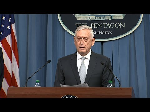 US Defense Secretary James Mattis says strikes directed at Assad regime