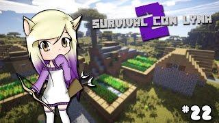 EXPLORAMOS TRES ALDEAS! | Survival con Lyna 2 | Episodio 22