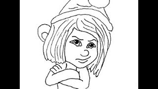 Naughties Vexy. The Smurfs 2. How to draw a easy? (Заноза. Анти-смурфы. Как нарисовать просто?)