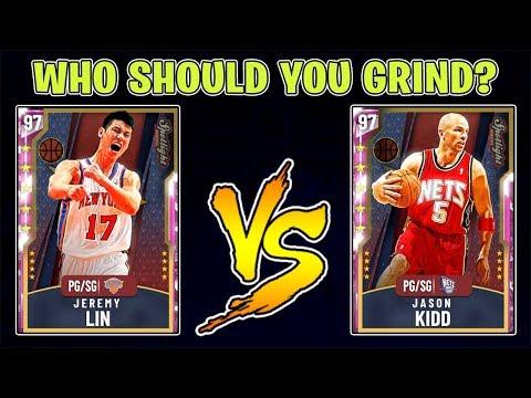 NBA 2K20 PINK DIAMOND JASON KIDD VS PINK DIAMOND JEREMY LIN! WHO IS BETTER?