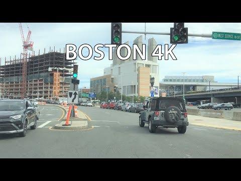 Boston Drive 4K - Boston's Booming Seaport District - USA