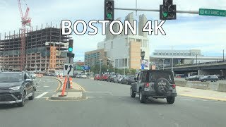 Boston Drive 4K - Boston's Booming Seaport District - USA