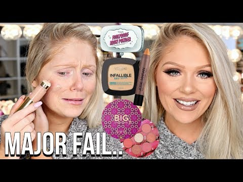 FULL FACE FIRST IMPRESSIONS TESTING NEW MAKEUP   HITS & MISSES