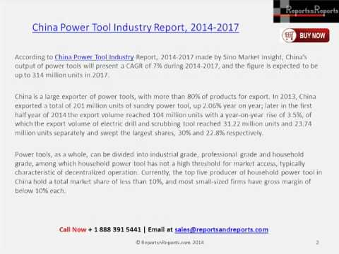 China Power Tool Market Research Analysis to 2017