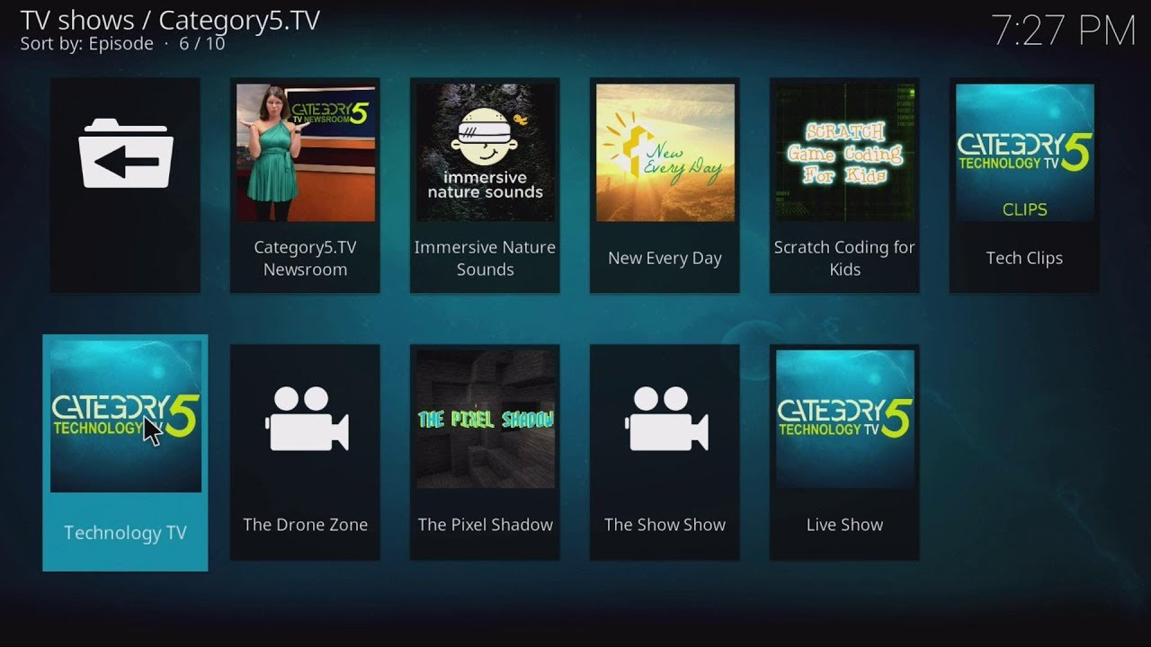 Install Free Category5 TV Network Channel on Kodi Media Center