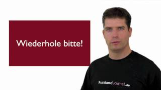 Russisch Sprachübung - Wichtige Ausdrücke - Teil 2