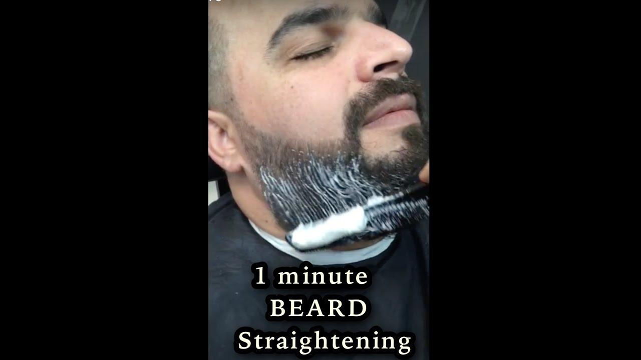 BEARD STRAIGHTENING FOR MEN | CURLY TO STRAIGHT STRAIGHTENING | BEARD TRIM  | DUBAI 217