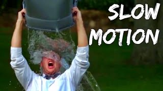 Scary Freezing ALS Ice Bucket Challenge - In Super Slow Motion HD | Slow Mo Lab