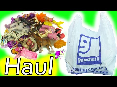 Schleich Horses, Mermaid, Barbie Fairy Dolls, My Little Pony - Goodwill Thrift Store Haul Video