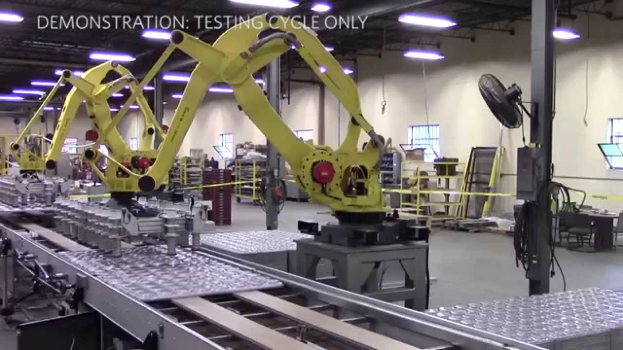Amf Robotic Pan Stacker And Unstacker Youtube