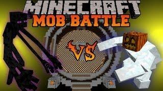 Mutant Enderman Vs Mutant Snow Golem - Minecraft Mob Battles - Mutant Creatures Mod