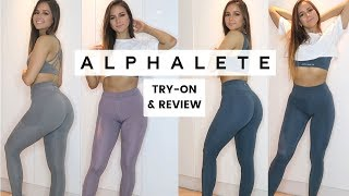 NEW LEGGINGS try-on & review - Alphalete new releases!